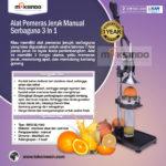Jual Alat Pemeras Jeruk Manual Serbaguna 3 in 1 di Bogor