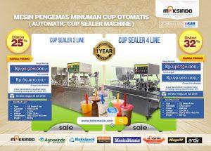 Promo Mesin Cup Sealer 2 Line dan 4 Line