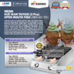 Jual Mesin Kue Ikan Taiyaki (3 pcs) – Open Mouth Fish di Bogor