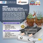 Jual Mesin Kue Ikan Taiyaki 5 Pcs – Open Mouth Fish di Bogor