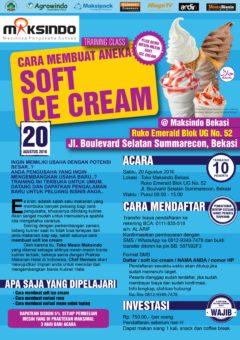 Training Usaha Soft Ice Cream di Bekasi 20 Agustus 2016