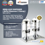Jual Juice Dispenser / Buffet Dispenser 2 Tabung di Bogor