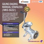 Jual Giling Daging Manual Stainless MKS-SG32 di Bogor