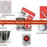 Jual Mesin Mixer Planetary 10 Liter (MPL-10) di Bogor