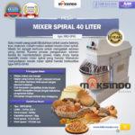 Jual Mixer Spiral 40 Liter (MKS-SP40) di Bogor