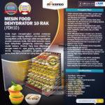 Jual Mesin Food Dehydrator 10 Rak (FDH10) di Bogor