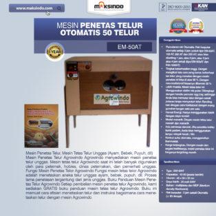 Jual Mesin Penetas Telur Otomatis 50 Telur (EM-50AT) di Bogor