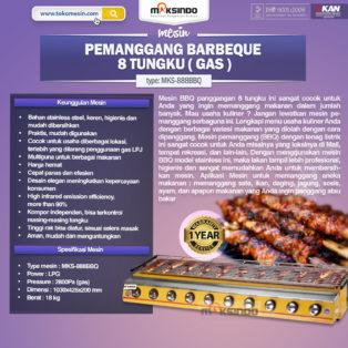 Jual Pemanggang BBQ (gas) 8 Tungku di Bogor