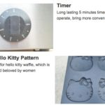 Jual Mesin Cetak Kue/Waffle Bentuk Hello Kity (Kitty1) di Bogor
