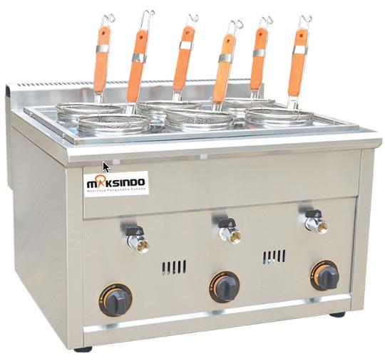 Jual Mesin Pemasak Mie 6 Lubang (Gas, MKS-PC6) di Bogor
