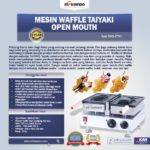 Jual Mesin Waffle Taiyaki Open Mouth (ETYK1) di Bogor