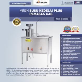 Jual Mesin Susu Kedelai Plus Pemasak Gas (SKD200) di Bogor