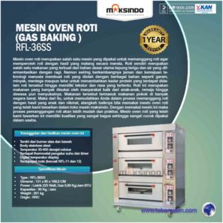 Jual Mesin Oven Roti Gas 6 Loyang (MKS-RS36) di Bogor