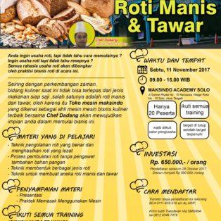 Training Usaha Roti Manis dan Tawar, 28 Oktober 2017