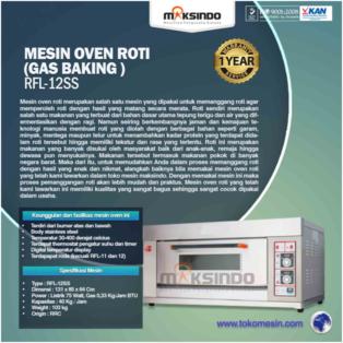 Jual Mesin Oven Roti Gas 2 Loyang (MKS-RS12) di Bogor