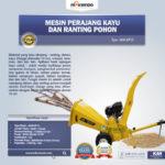 Jual Mesin Perajang Kayu dan Ranting Pohon – KP15 Di Bogor