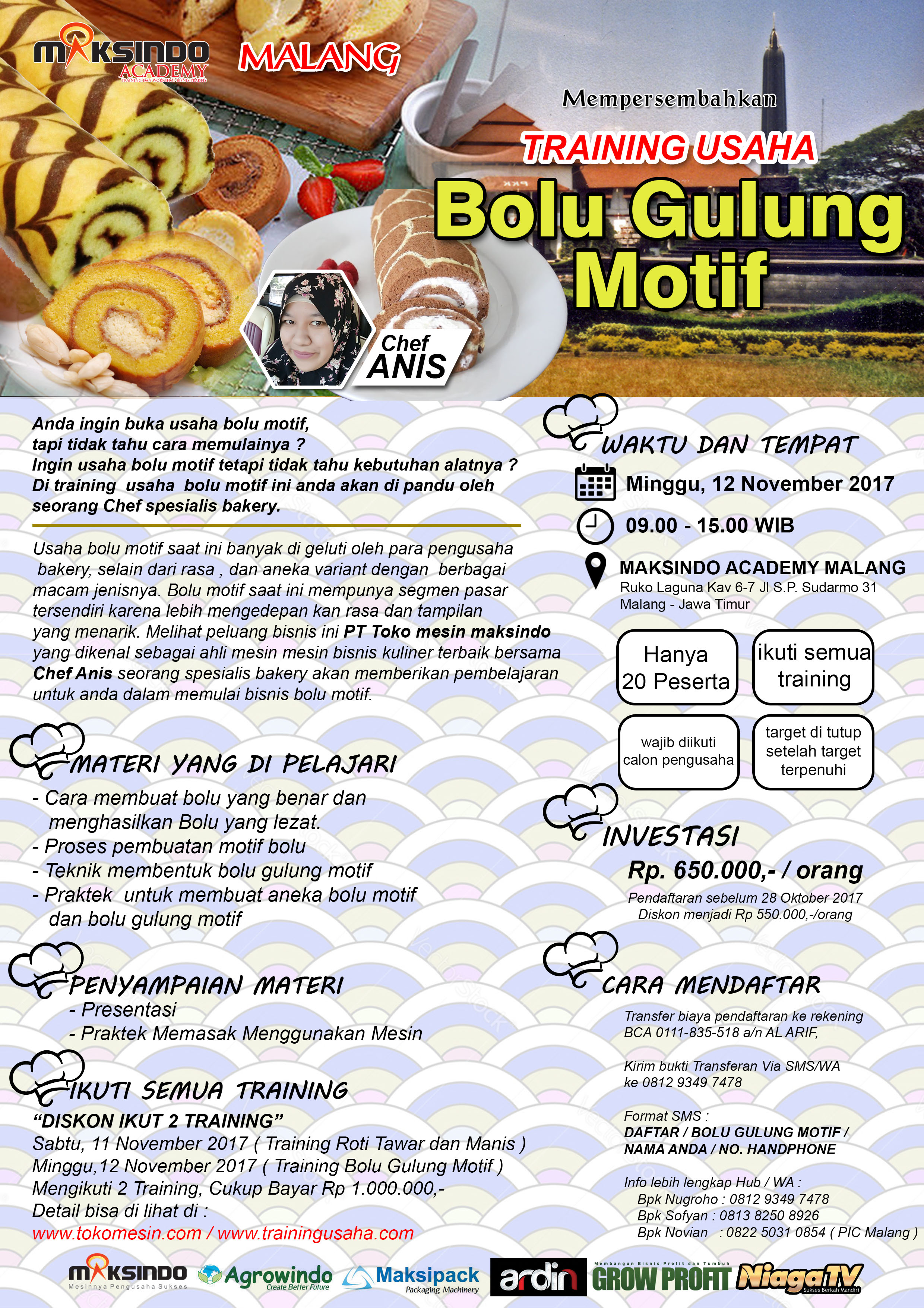 Training Usaha Bolu Gulung Motif, 12 November 2017