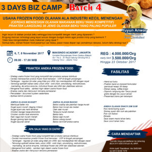 Training Usaha Frozeen Food, 6-8 November 2017