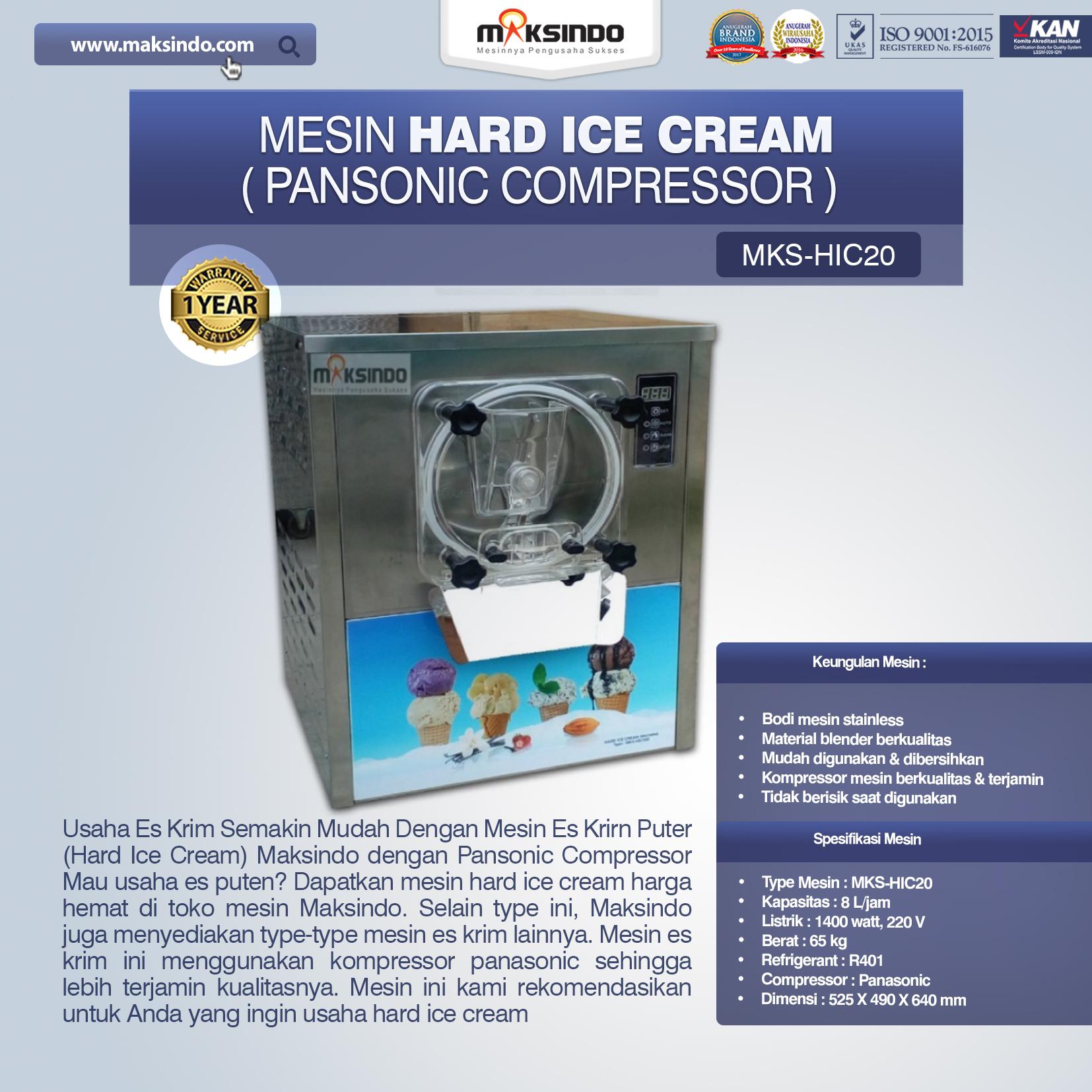Jual Mesin Hard Ice Cream (HIC20) di Bogor