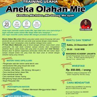 Training Usaha Aneka Olahan Mie, 23 Desember 2017