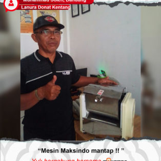 Lanura Donat Kentang : Mesin Dough Mixer Maksindo Memang Mantap