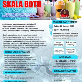 Training Usaha Aneka Minuman Skala Both, 20 Januari 2018