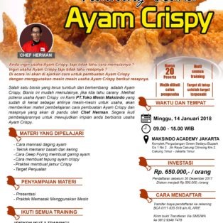 Training Usaha Ayam Krispy, 14 Januari 2018