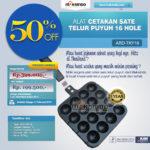Jual Alat Cetakan Sate Telur Puyuh 16 Hole Ardin TKY16  di Bogor