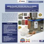 Jual Mesin Filling Tepung dan Biji (2-200 gr) di Bogor