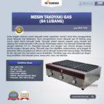 Jual Mesin Takoyaki Gas (84 Lubang) di Bogor