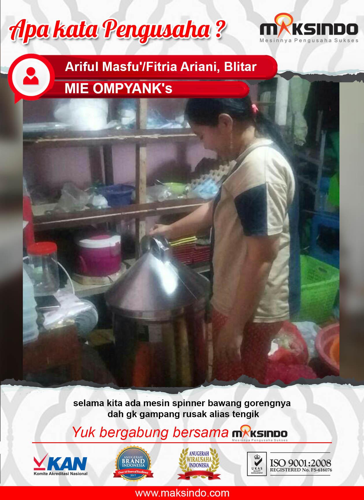 MIE OMPYANK's : Menggoreng Bawang Tidak Tengik atau Rusak dengan Spinner Maksindo