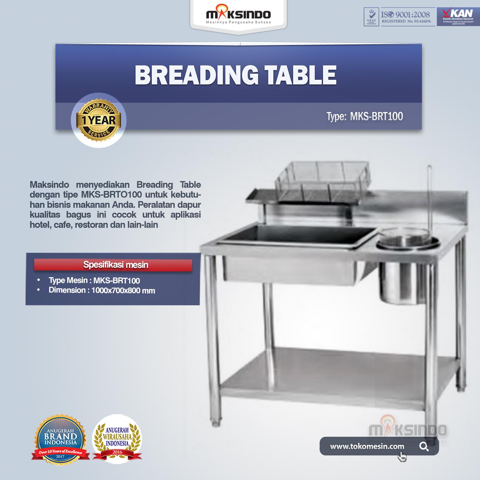 Jual Breading Table MKS-BRT100 di Bogor
