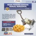 Jual Mesin Pengiris Kentang Manual Horizontal (KG-02) di Bogor