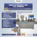 Jual Mesin Cup Sealer Otomatis 4 line di Bogor