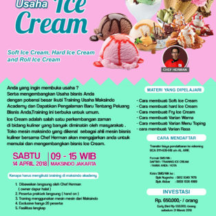 Training Usaha Ice Cream Dan Topping, 14 April 2018