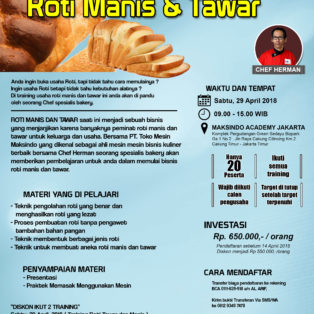 Training Usaha Roti Manis dan Tawar, 29 April 2018