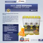 Jual Mesin Juice Dispenser 3 Tabung (17 Liter) – DSP17x3 di Bogor