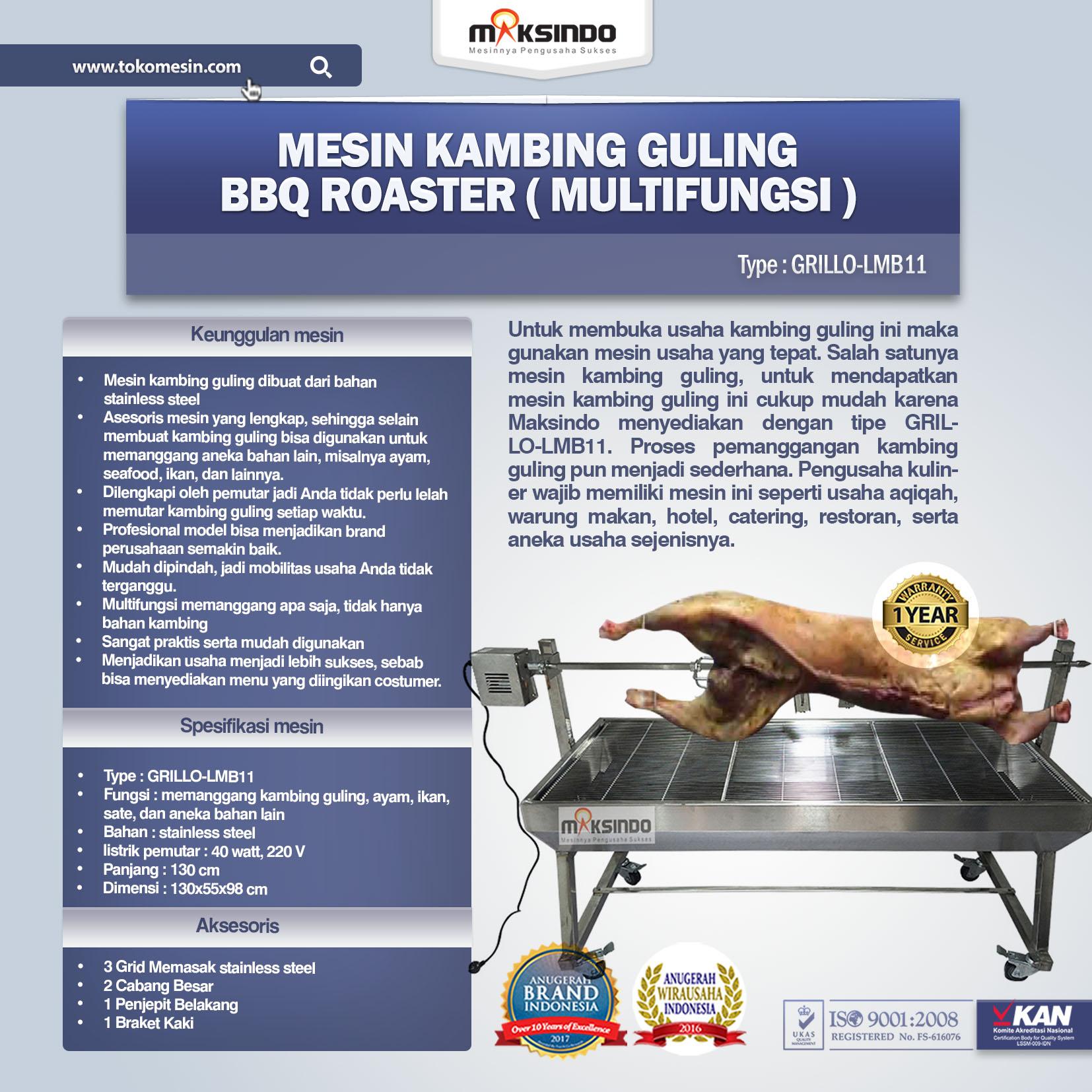 Jual Mesin Kambing Guling BBQ Roaster (GRILLO-LMB11) di Bogor