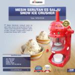 Jual Mesin Serutan Es Salju (Snow Ice Crusher) MKS-ICE38 di Bogor
