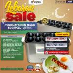 Mesin Pembuat Egg Roll (Listrik) di Bogor