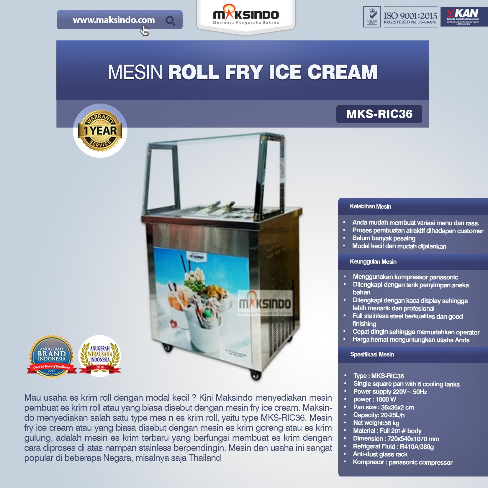 Jual Mesin Roll Fry Ice Cream (RIC36) di Bogor