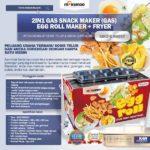 Jual Mesin Egg Roll Gas 2in1 Plus Fryer ERG007 Maksindo di Bogor