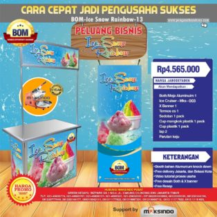 Paket Usaha Ice Snow Rainbow Program BOM MKS-003