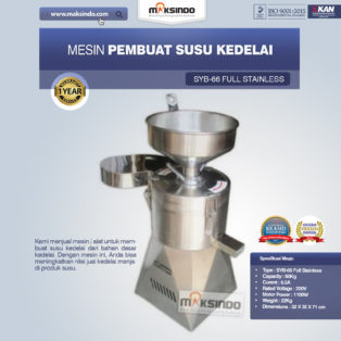 Jual Alat dan Mesin Pengolahan Susu Kedelai di Bogor