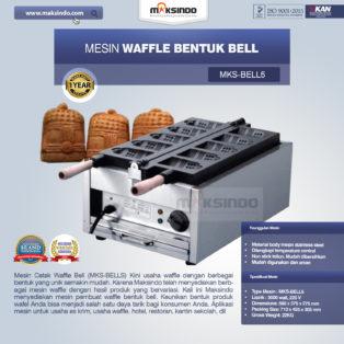 Jual Mesin Waffle Bentuk Bell (MKS-BELL5) di Bogor