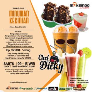 Training Usaha Aneka Minuman Kekinian, Sabtu 13 Oktober 2018