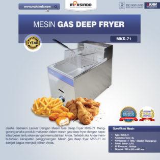 Jual Mesin Gas Deep Fryer MKS-71 di Bogor