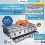 Jual Pemanggang Serbaguna – Gas BBQ Grill 6 Tungku di Bogor