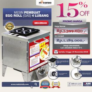 Jual Mesin Pembuat Egg Roll (Gas) 4 Lubang MKS-ERG444 di Bogor