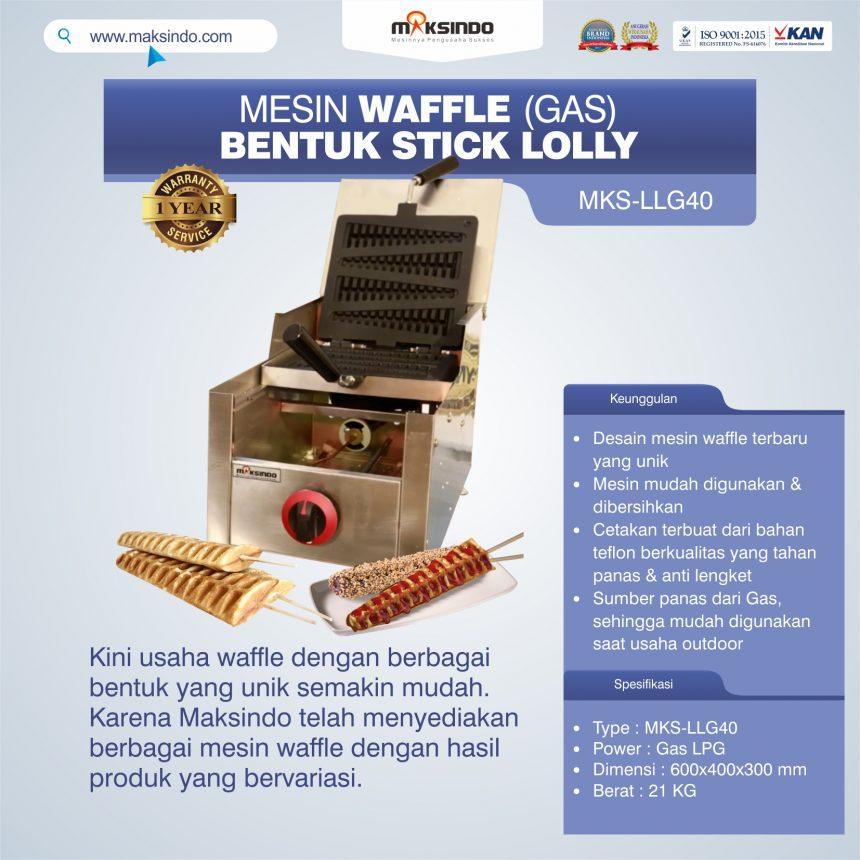 Jual Mesin Waffle Bentuk Stick Lolly (Gas) MKS-LLG40 di Bogor